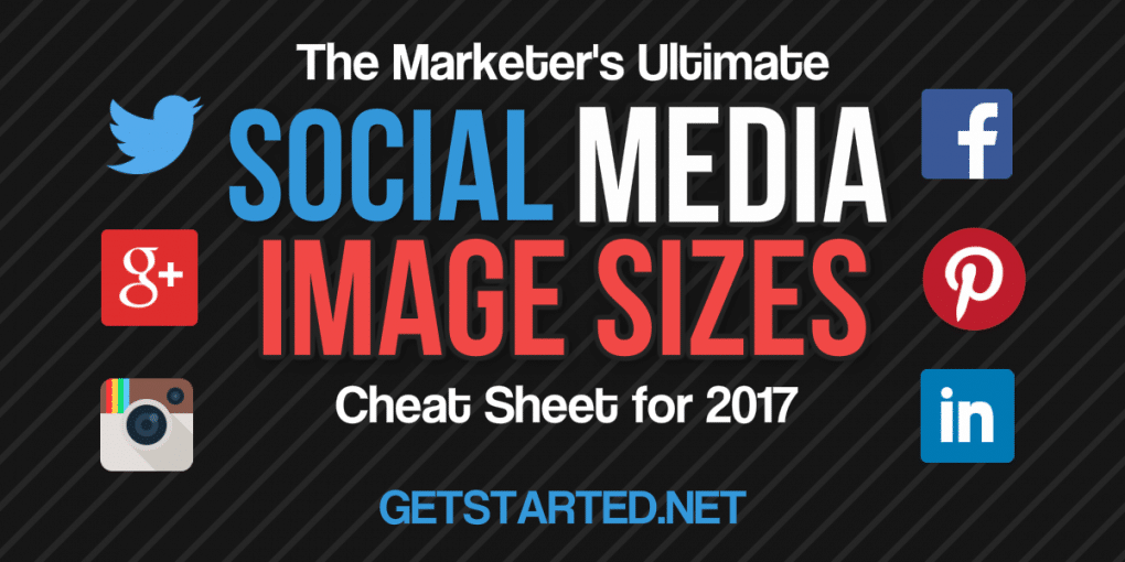 Need to find the perfect social sharing image sizes for social media. Use the social media image size cheat sheet for 2017 here now.