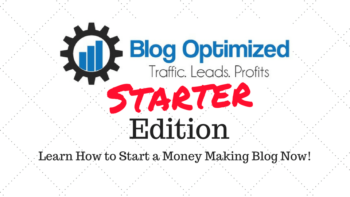 Blog Optimized Starter Edition will show you how to start a blog with Wordpress. Watch over my shoulder as I create a blog live on video.