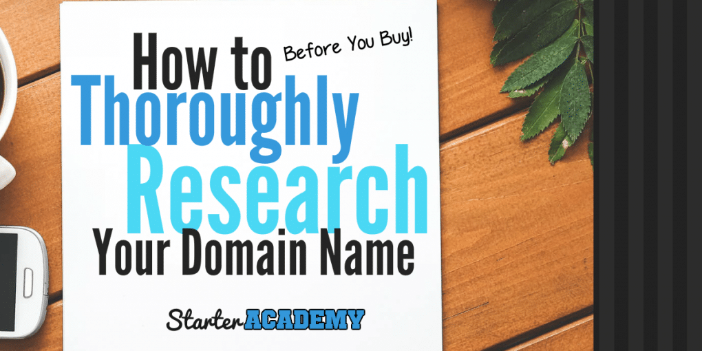 Domain Name research and Domain ideas for your blog when getting started. Learn what you need to do before you buy your domain name.